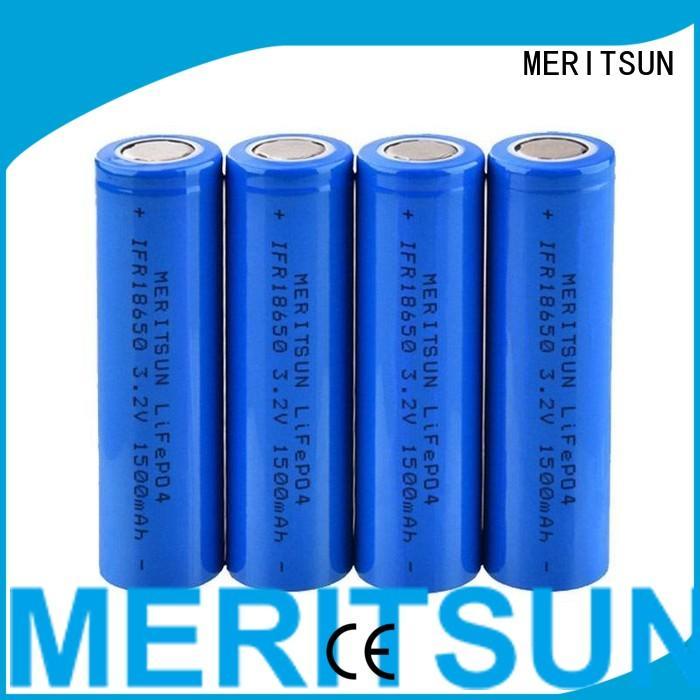 lithium ion battery cells lipo ifr MERITSUN Brand company