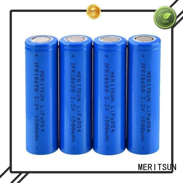 MERITSUN environment friendly 18650 li ion cells factory direct supply for telecom