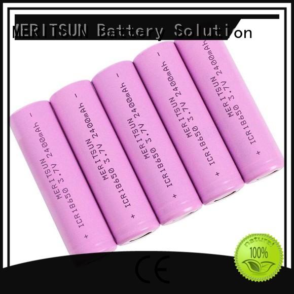 capacity matching 18650 lithium rechargeable battery customized for telecom MERITSUN