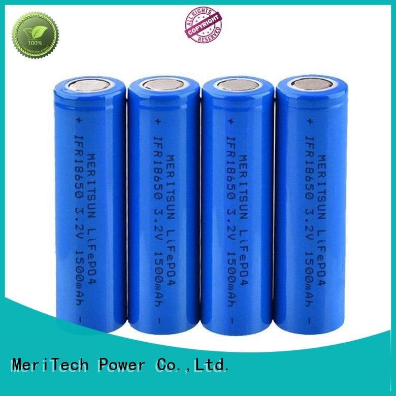 MERITSUN high drain 18650 lithium ion cells customized for power bank