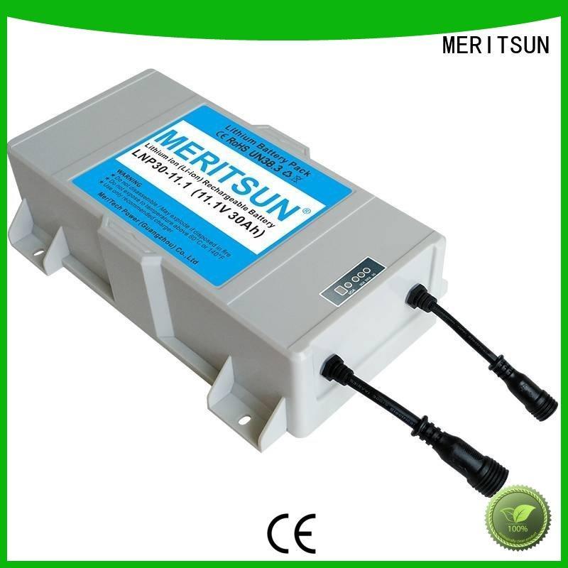 12V 30Ah solar street light cost low-carbon for garden MERITSUN
