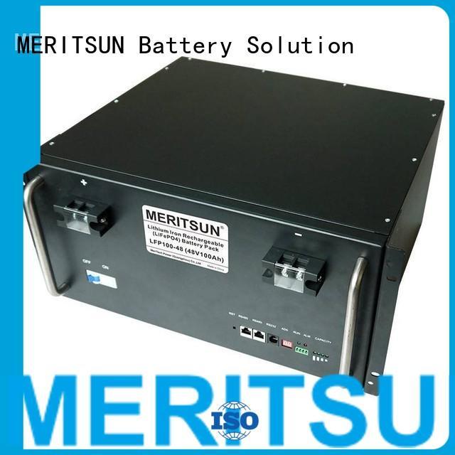 phosphate Custom battery telecom battery energy storage system MERITSUN 100ah