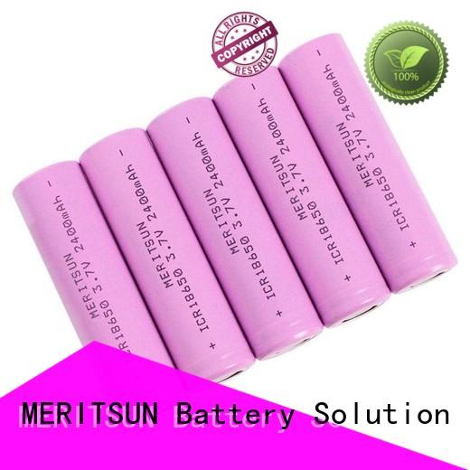 safe 3.7 volt rechargeable lithium ion battery factory direct supply for power bank MERITSUN
