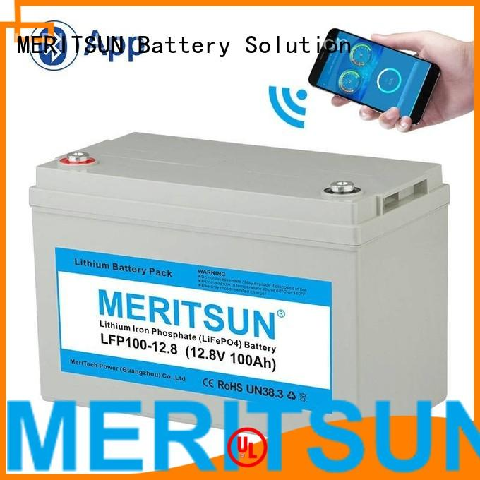 MERITSUN Brand deep polymer lifepo4 battery price 200ah