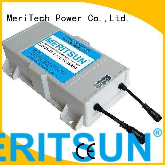 integrated long solar street light lithium battery 12v MERITSUN