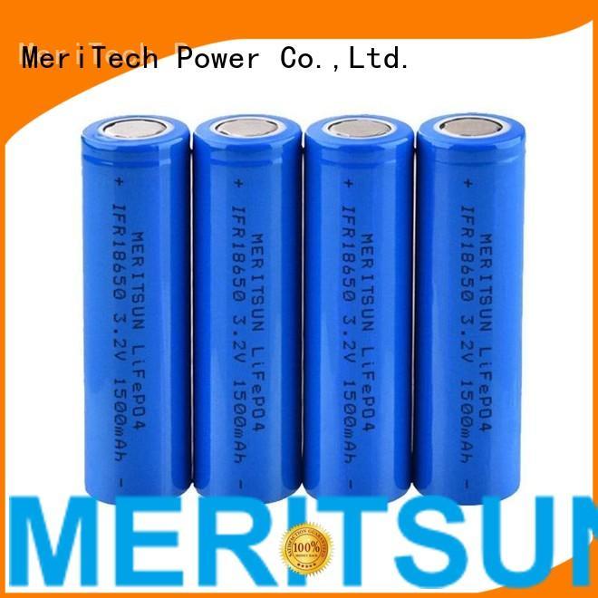 1500mah 18650 MERITSUN Brand lithium ion battery cells