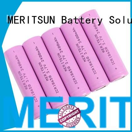 MERITSUN Brand 2400mah drain ion li ion battery cell manufacture