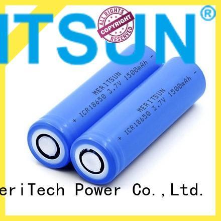 MERITSUN 18650 battery cell customized for power bank