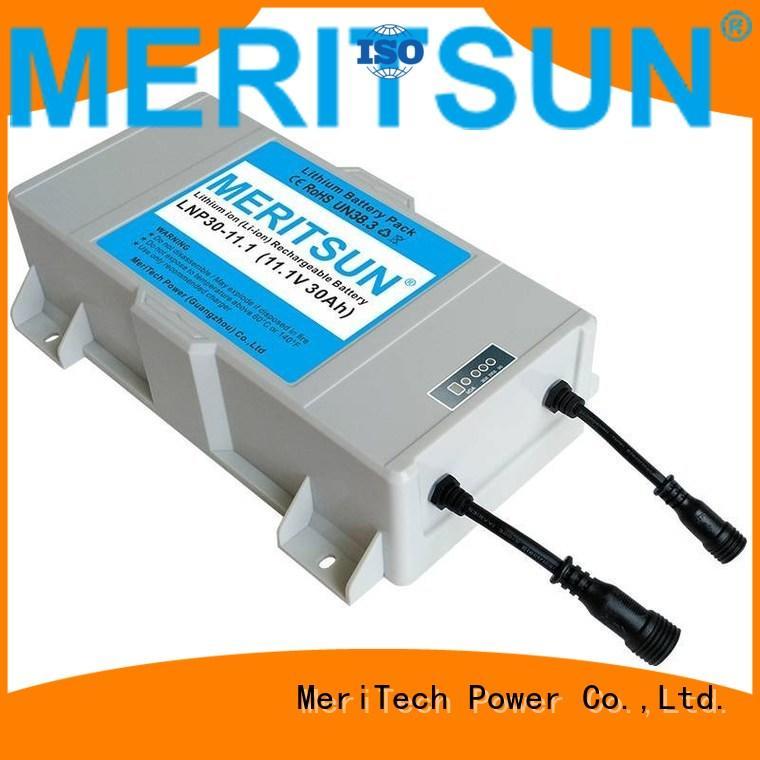 MERITSUN Brand solar all custom lithium ion battery for solar street light