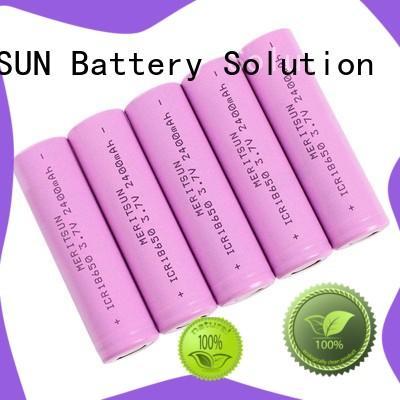 MERITSUN long-run cost 18650 li ion cells customized for flashlight