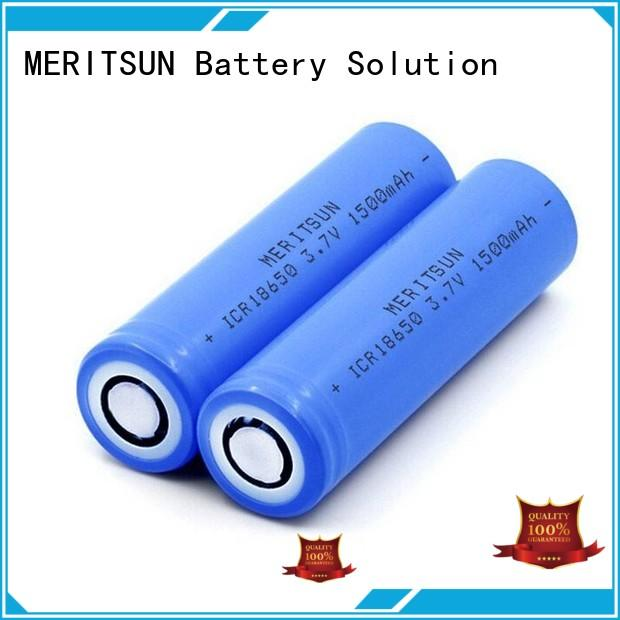 MERITSUN rechargeable 18650 li ion cells customized for power bank