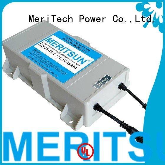 lithium ion battery for solar street light long rechargeable MERITSUN Brand
