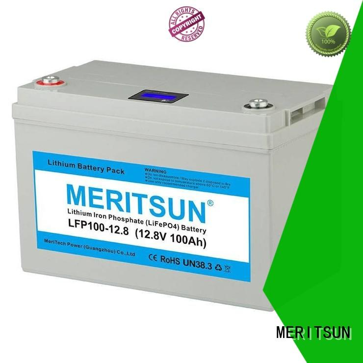 MERITSUN deep cycle lithium iron phosphate battery series for house