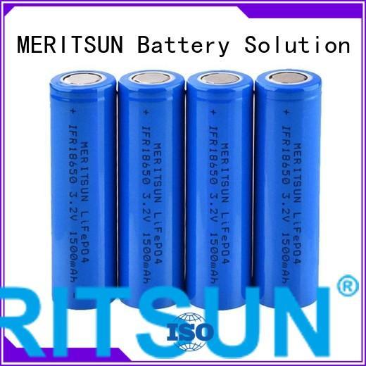 lithium ion battery cells 1500mah MERITSUN Brand li ion battery cell