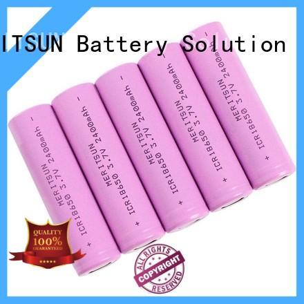 3.7 volt lithium ion battery high drain for solar MERITSUN