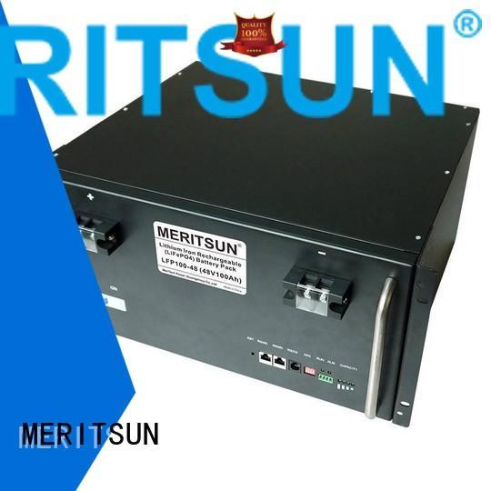 MERITSUN Brand phosphate ess iron solar energy storage system 50ah