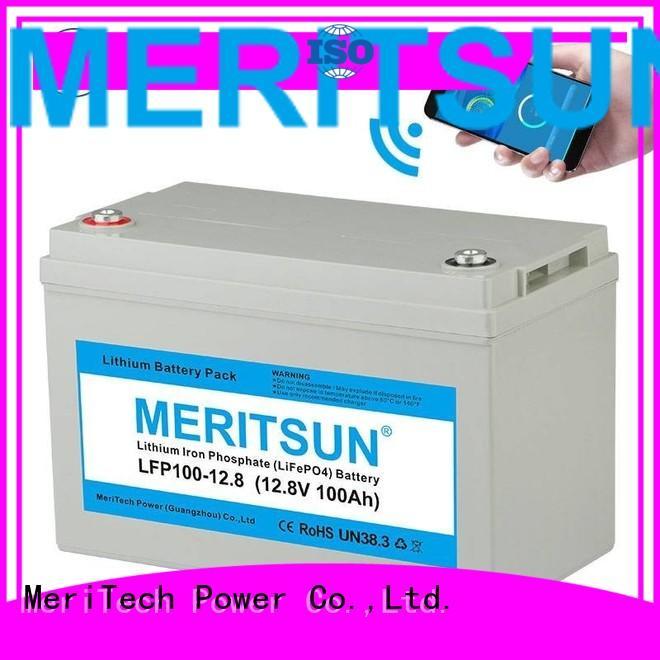 battery app lifepo4 battery polymer MERITSUN Brand company