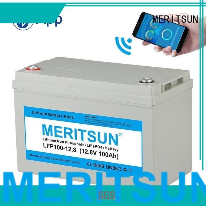 solar lifepo4 battery price deep MERITSUN company