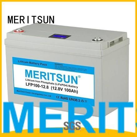 lcd control lifepo4 battery MERITSUN Brand