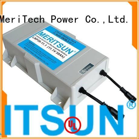 MERITSUN Brand liion all lithium ion battery for solar street light