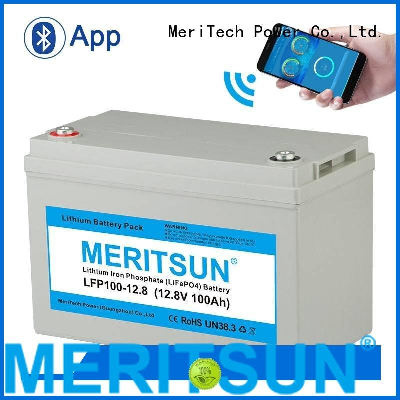 bluetooth app 100dod lifepo4 battery MERITSUN