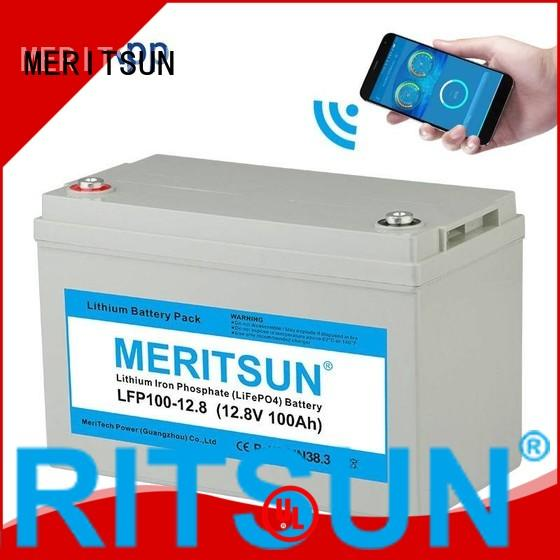 lifepo4 battery price life 100ah MERITSUN Brand company