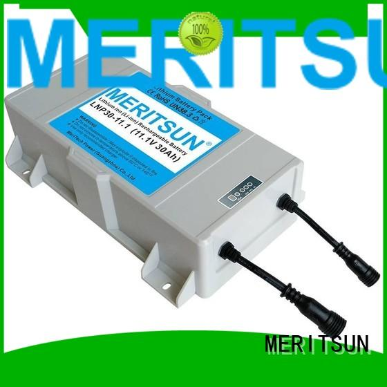 lithium ion battery for solar street light battery 12v MERITSUN Brand