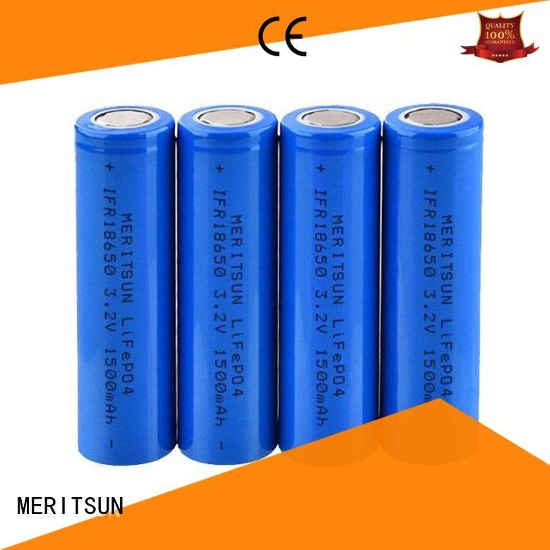 buy li ion battery customized for flashlight MERITSUN