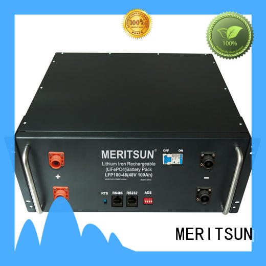MERITSUN easy to install residential energy storage systems customized for base transceiver station