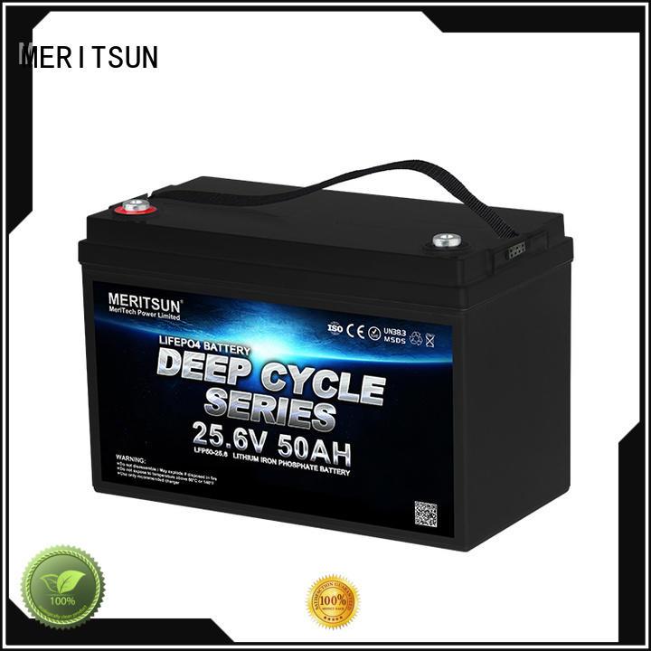 MERITSUN 24v lifepo4 battery supplier for building