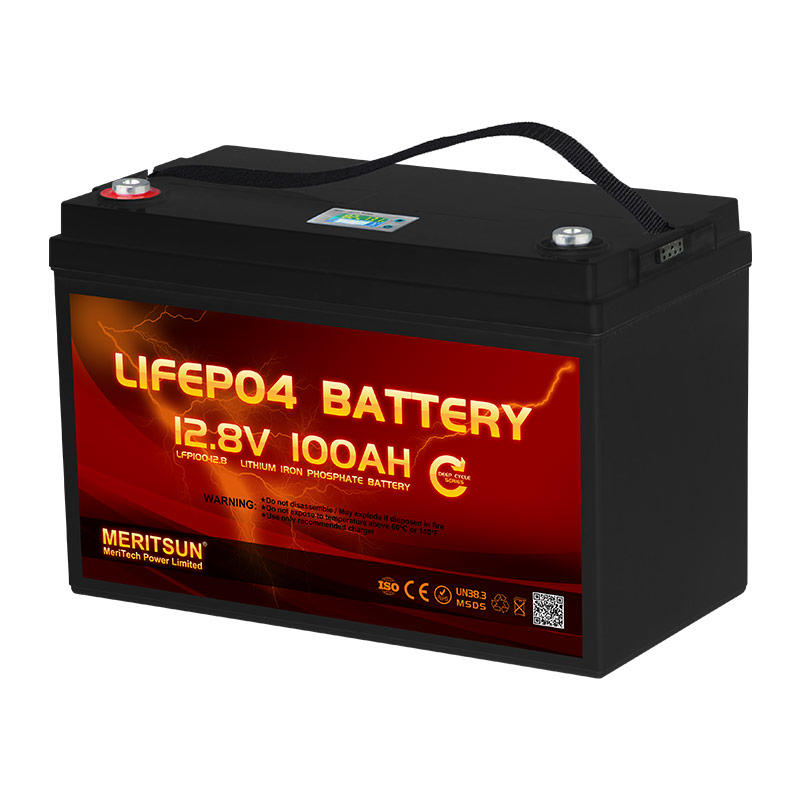 With LCD APP Bluetooth Control 12V 100Ah Deep Cycle LiFePO4 Lithium ion Polymer Battery Pack