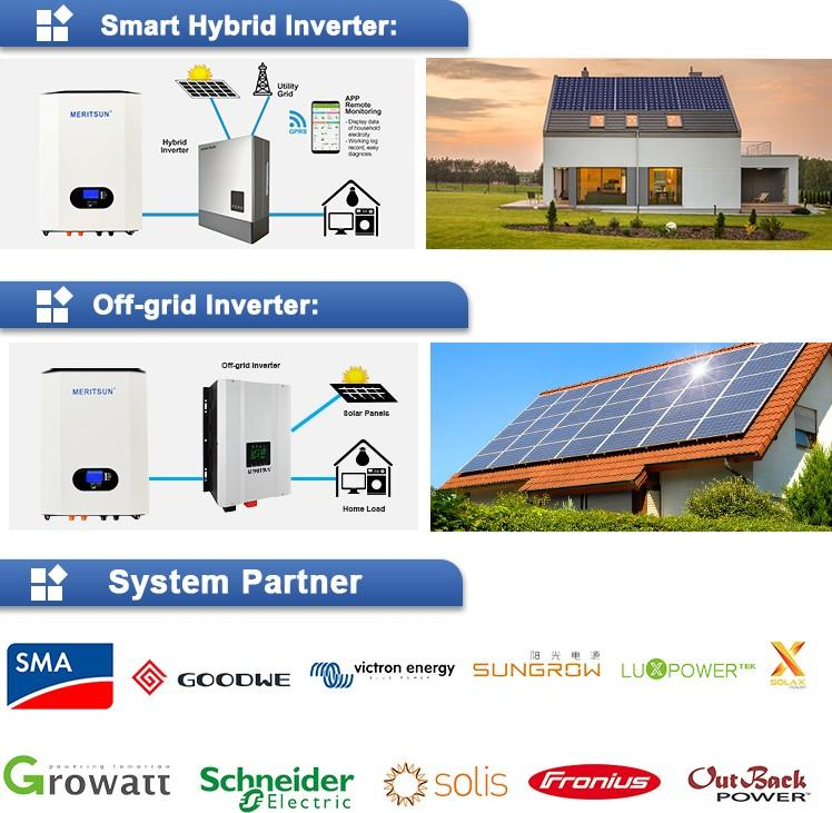 MERITSUN powerwall cost factory direct supply for buildings