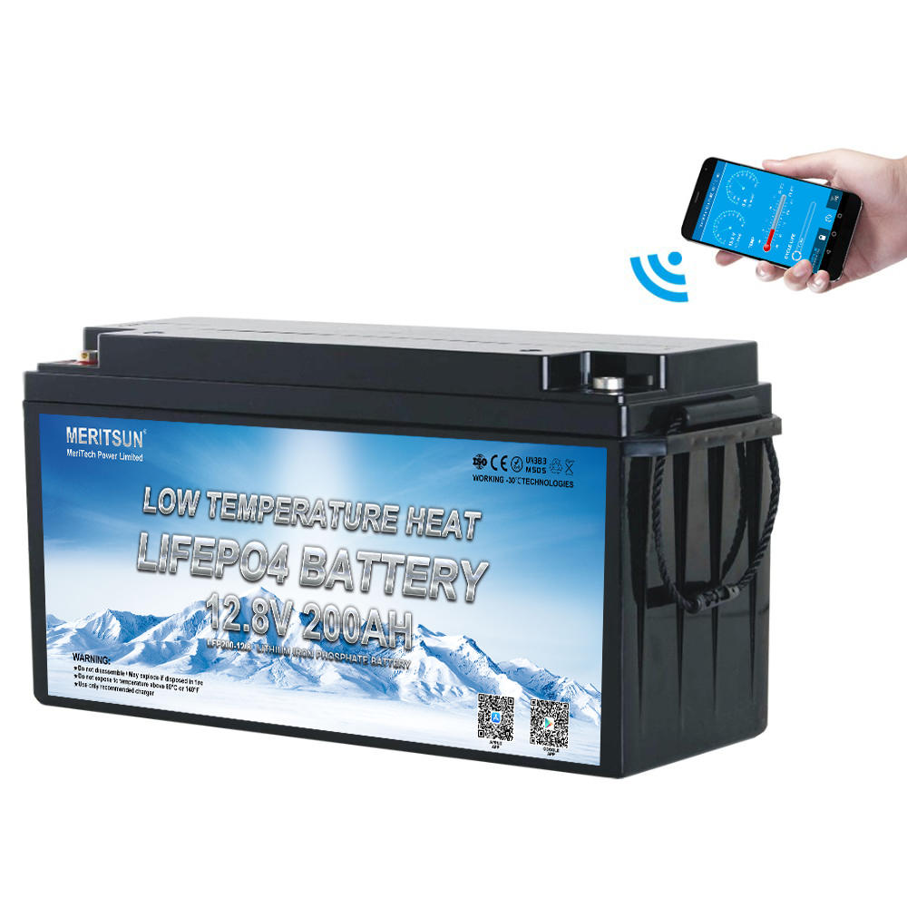 Low Temperature lithium-ion battery  Li-ion Lifepo4 Battery Pack 12v 200ah Lifepo4 Battery and BMS 12v 200ah With Bluetooth