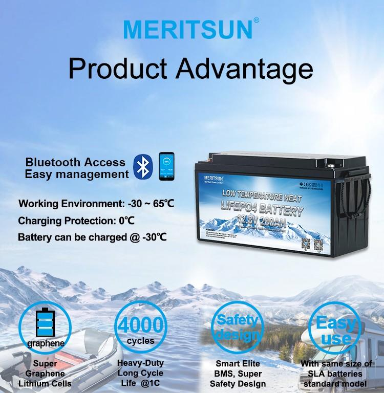 MERITSUN best low temperature lithium ion battery suppliers for electric motorcycle