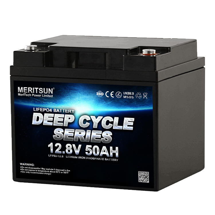 MERITSUN Deep Cycle Lifepo4 Lithium Ion Battery 12v 50ah Liion battery