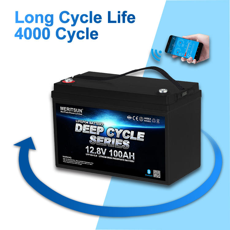 Solar Lithium Deep Cycle Lifepo4 Battery 12v 100ah Lithium Iron Phosphate Battery Pack  with bluetooth