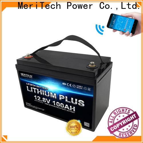 MERITSUN top lithium battery with bluetooth manufacturers for robot