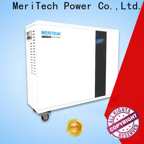 MERITSUN rechargeable home battery backup with good price for house