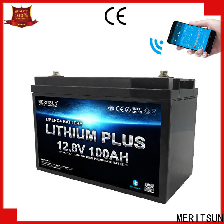 MERITSUN lithium battery with bluetooth with good price for solar street light