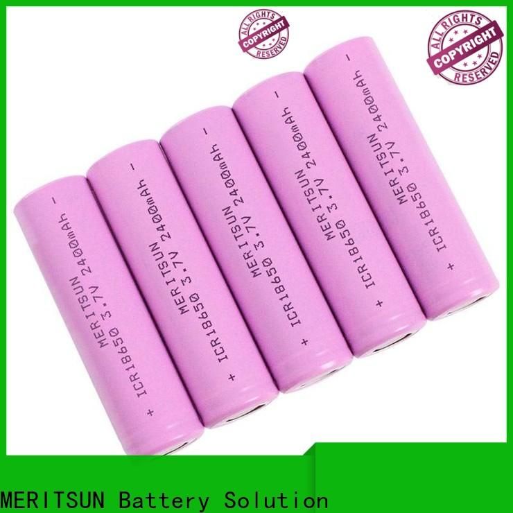 MERITSUN high-quality icr 18650 battery with good price for flashlight