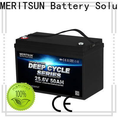 MERITSUN lithium ion polymer battery customized for home use