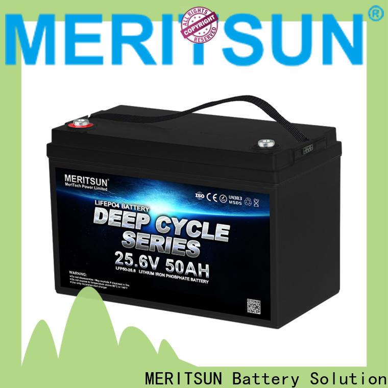 MERITSUN 24v lifepo4 battery manufacturer for villa