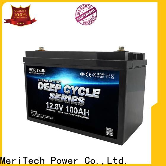MERITSUN lifepo4 battery 12v with good price for building
