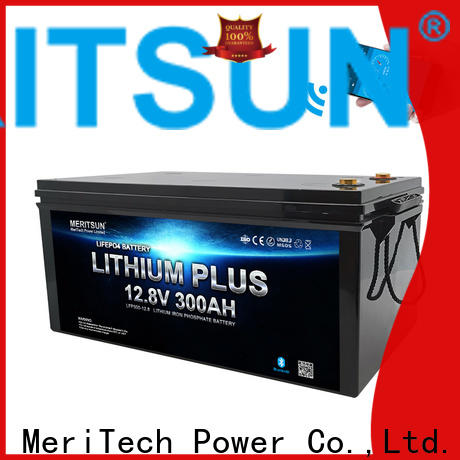 MERITSUN high-quality lithium battery with bluetooth manufacturers for boat