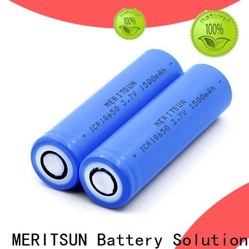 MERITSUN best small lithium ion battery with good price for flashlight