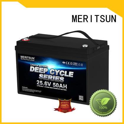 MERITSUN lifepo4 battery 12v 100ah wholesale for house