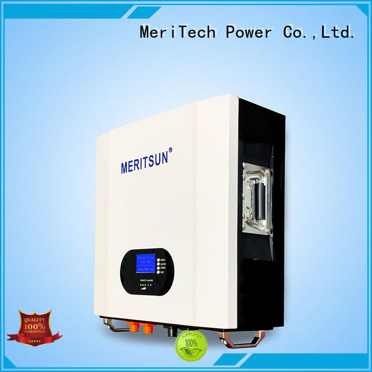 MERITSUN Hybrid inverter powerwall battery customized for home