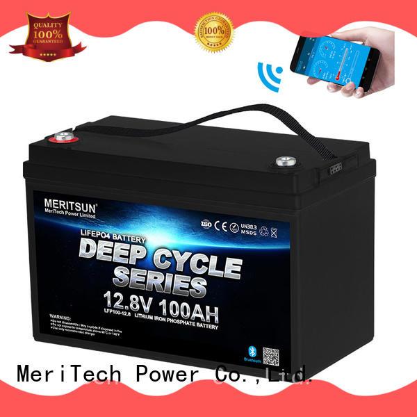 MERITSUN bluetooth lithium battery manufacturers for solar street light