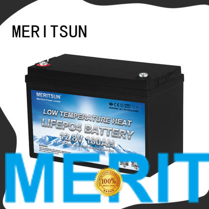 MERITSUN latest low temperature lithium battery supply for house