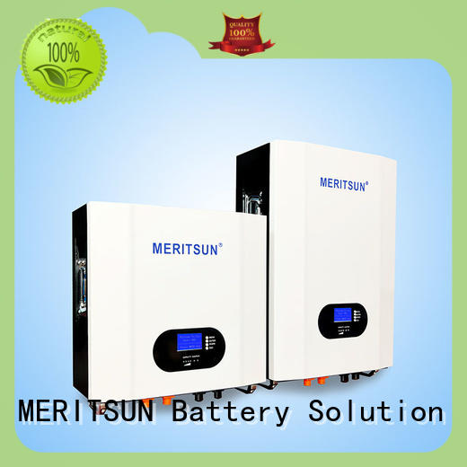 MERITSUN Hybrid inverter powerwall battery customized for energy storage